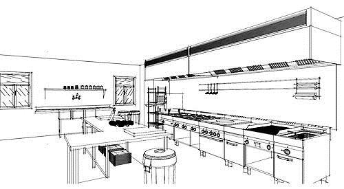 Commercial Kitchen Design Drawings